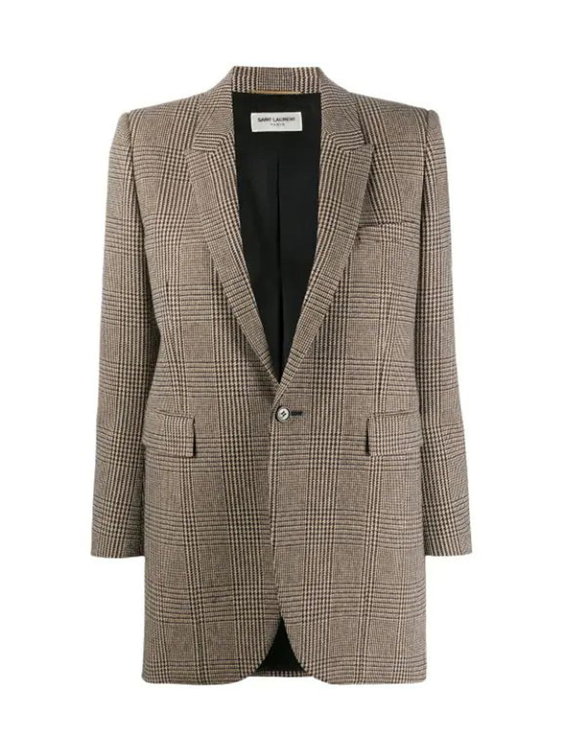 Prince of Wales tweed blazer jacket