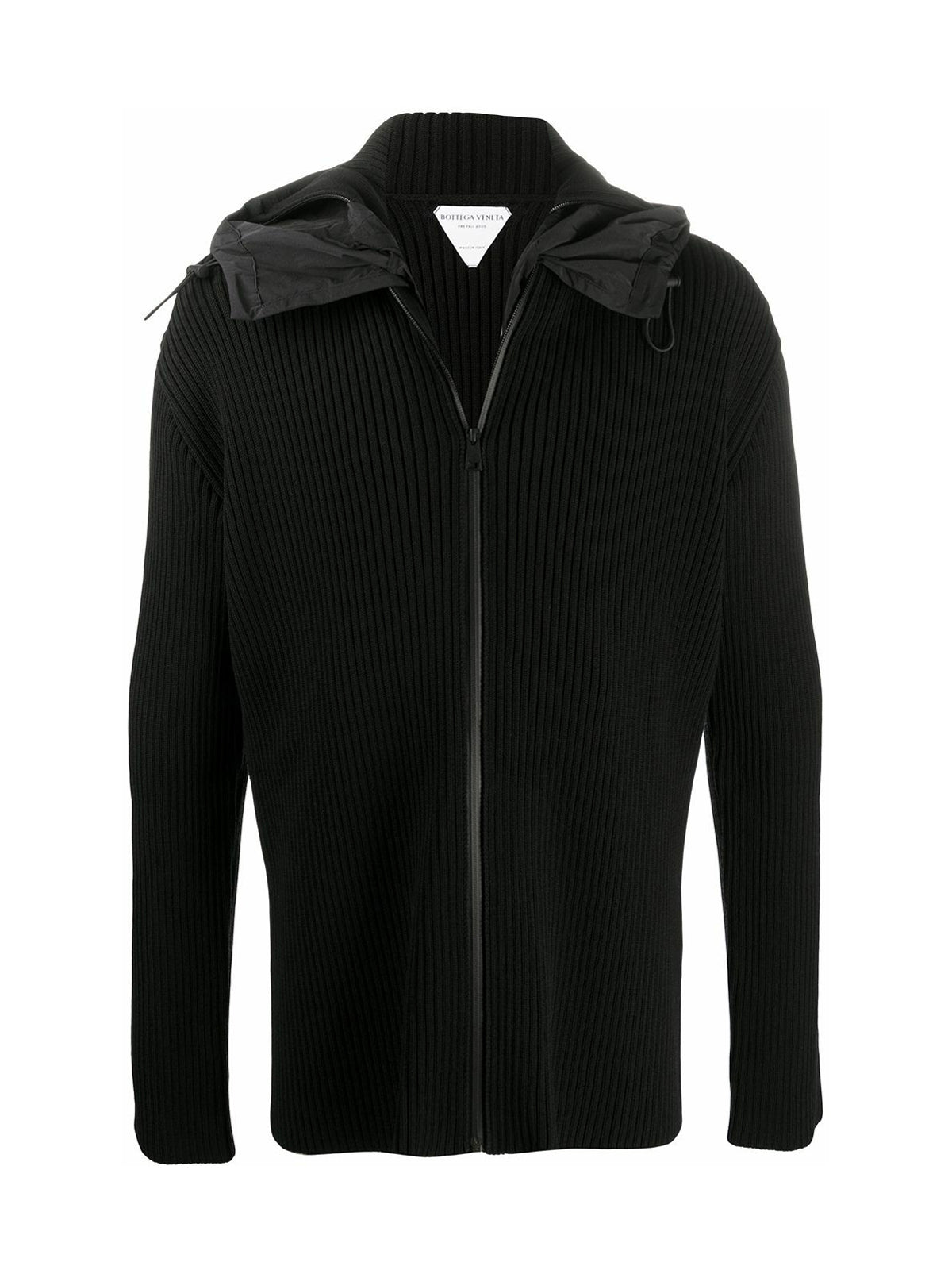 ribbed zip-up hoodie