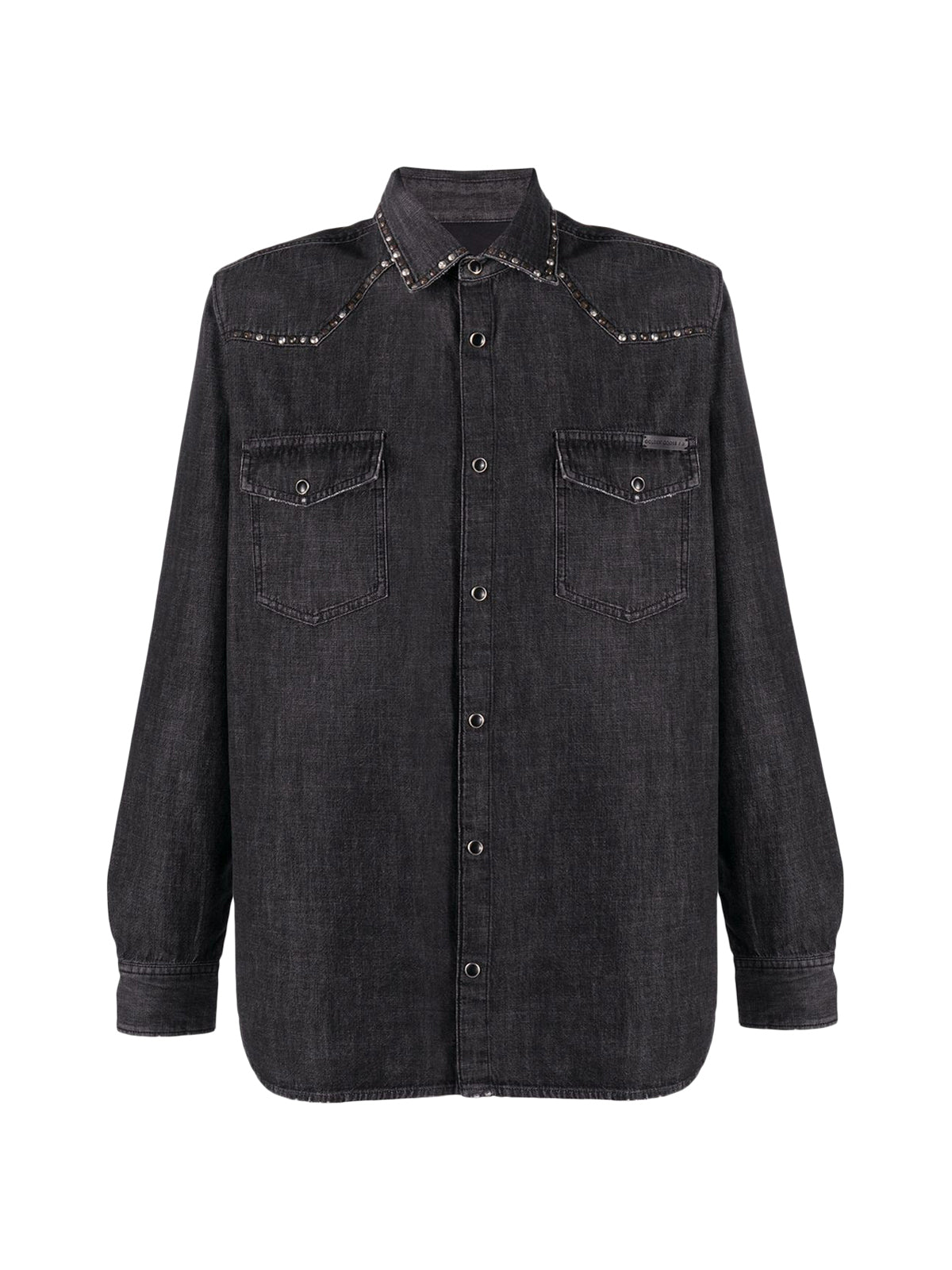 stud detail denim shirt