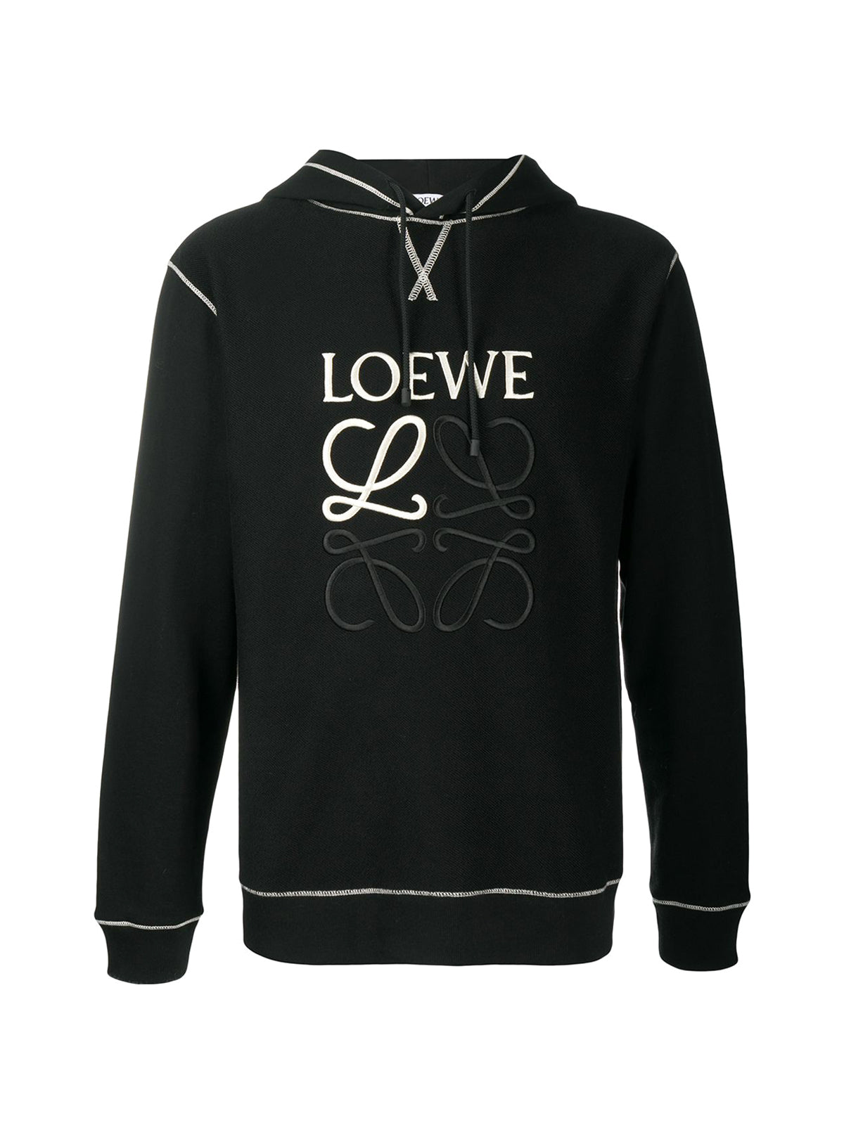 sweatshirt with embroidered hood