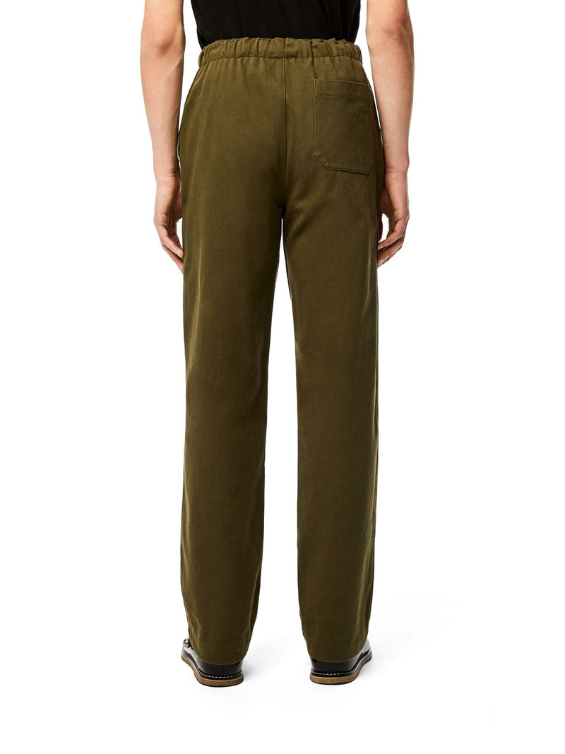 Drawstring trousers in cotton