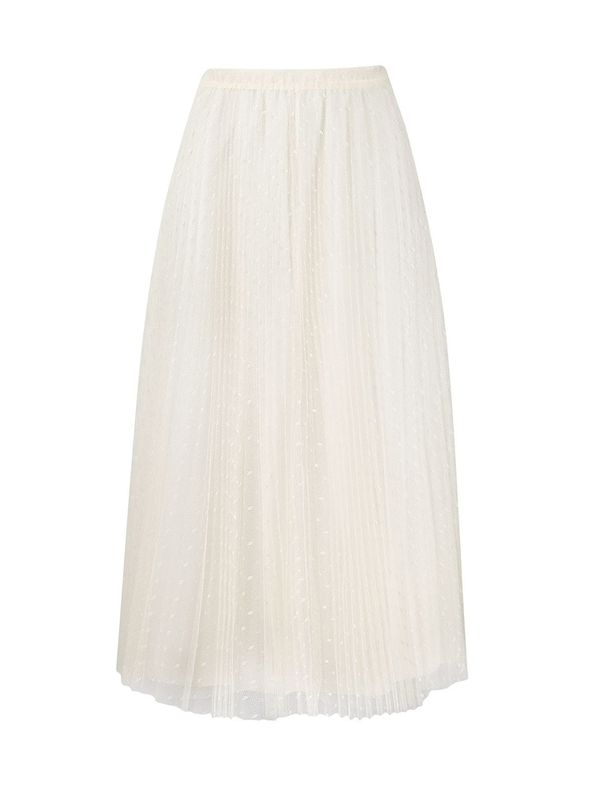 Point d`Esprit tulle midi skirt