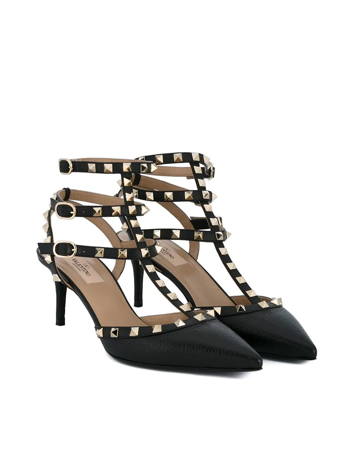 Rockstud heeled pumps