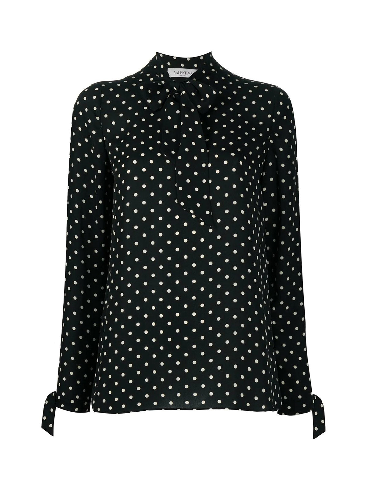 Blouse with pois pattern