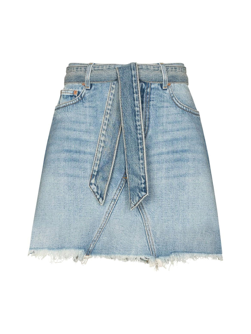 MINI SKIRT IN DENIM WITH BELT
