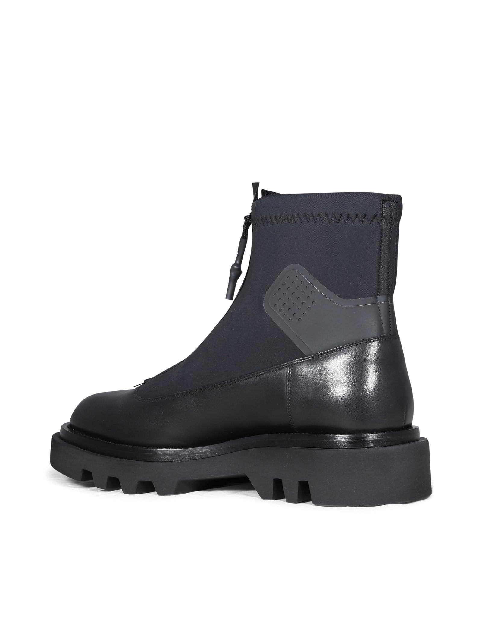 DERBY COMBAT LEATHER AND NEOPRENE BOOTS