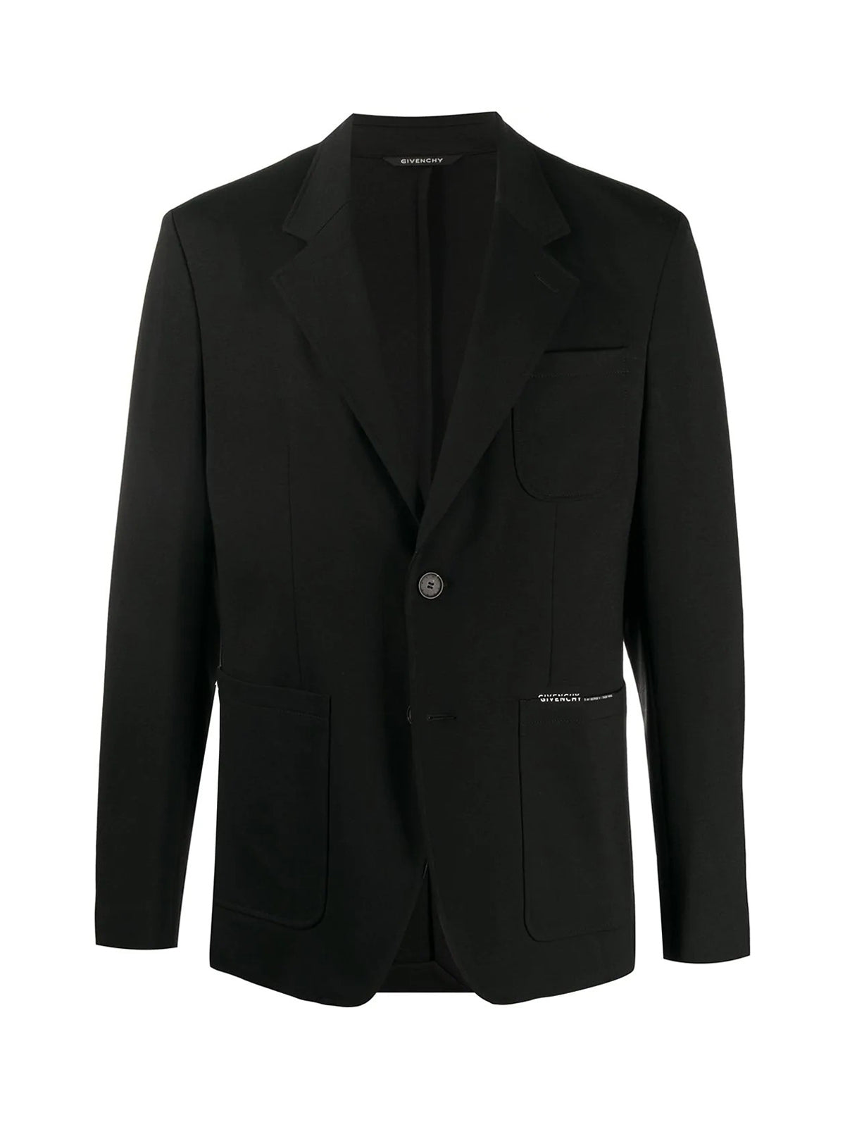 single-breasted logo blazer