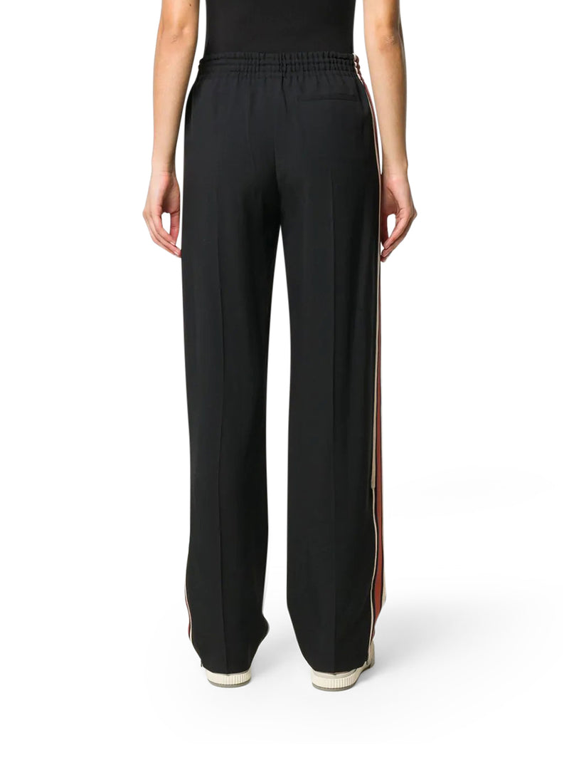 stripe appliqué track pants