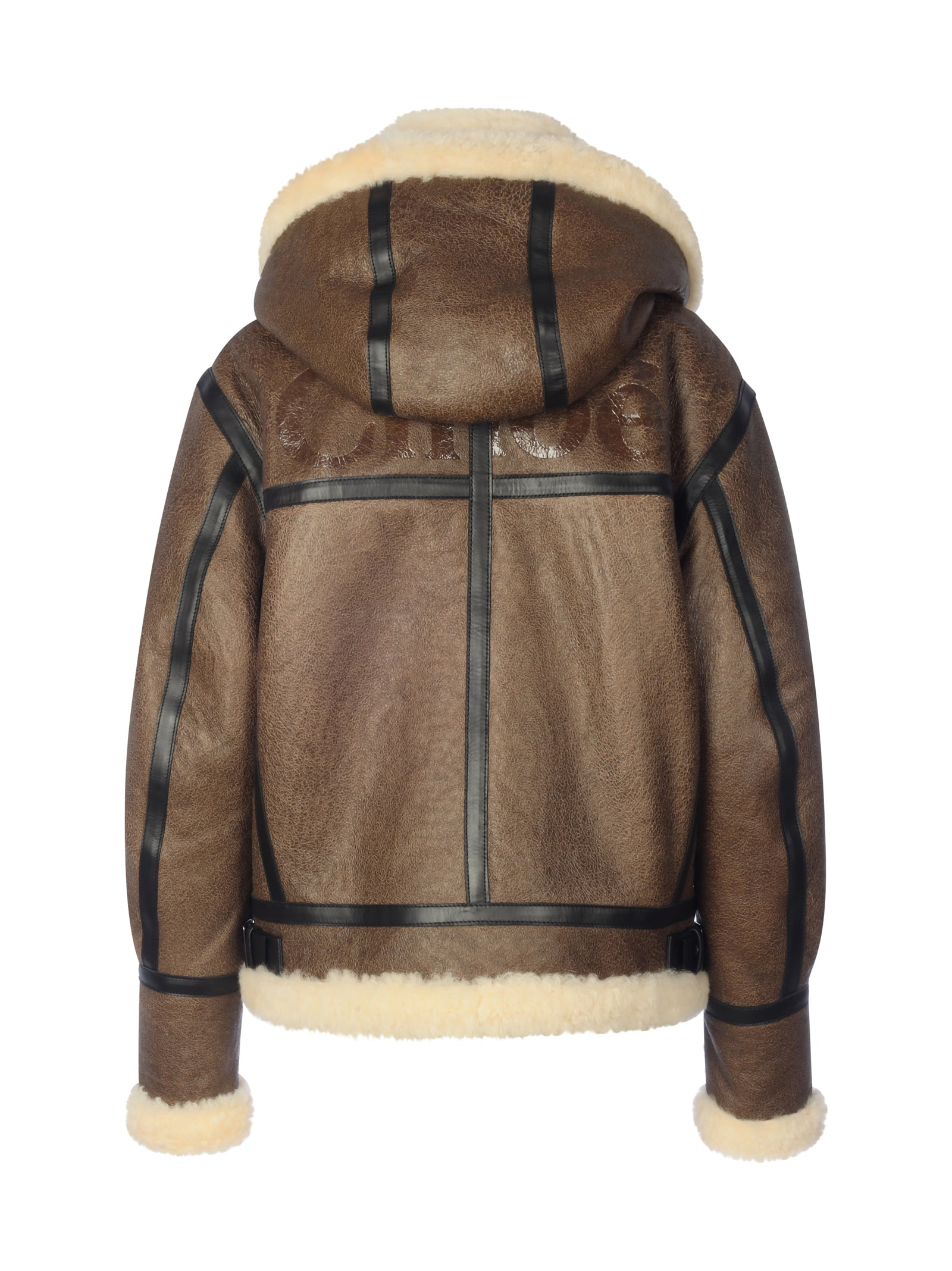 Aviator shearling-trim Jacket