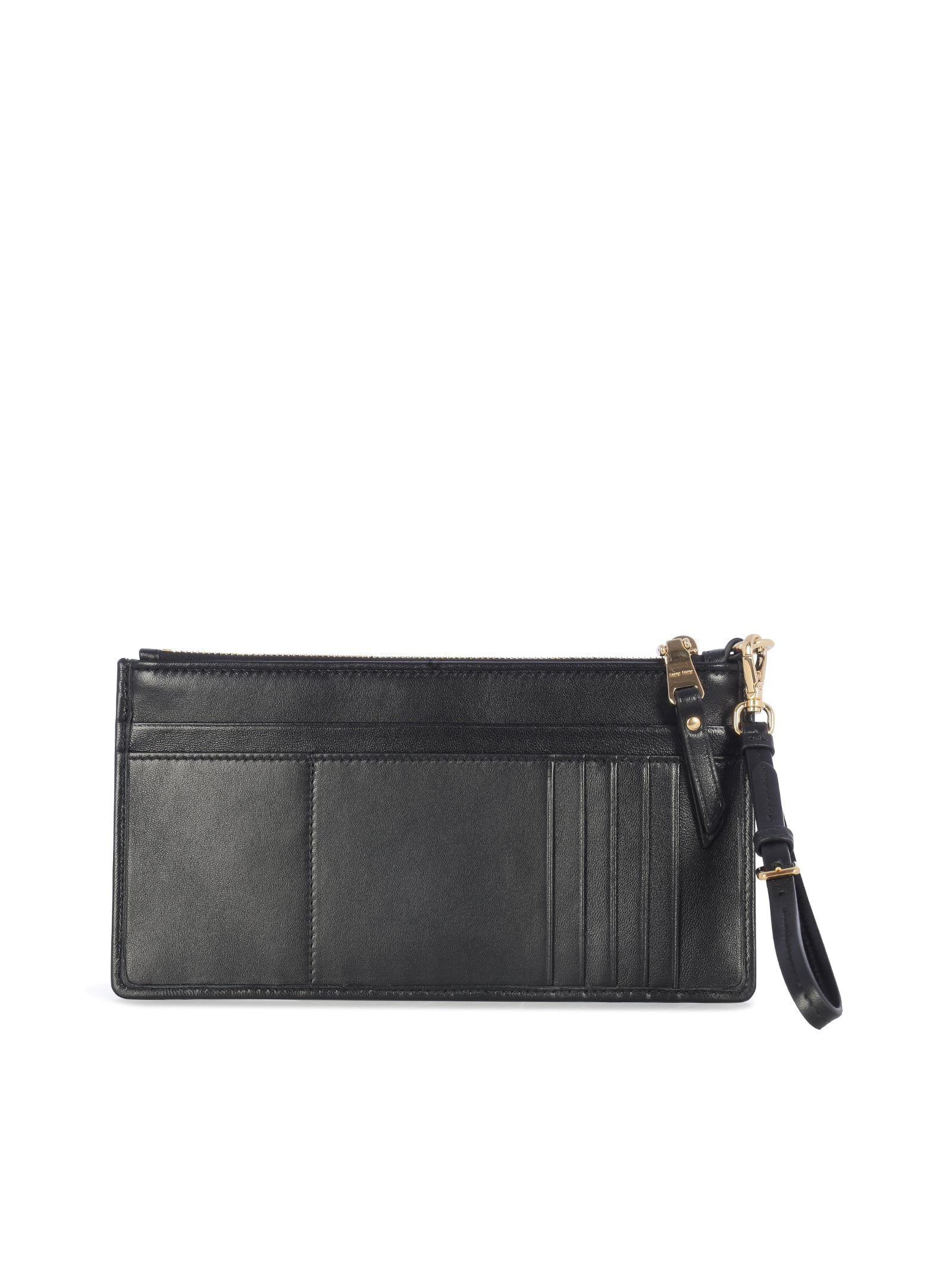 matelassé zipped wallet