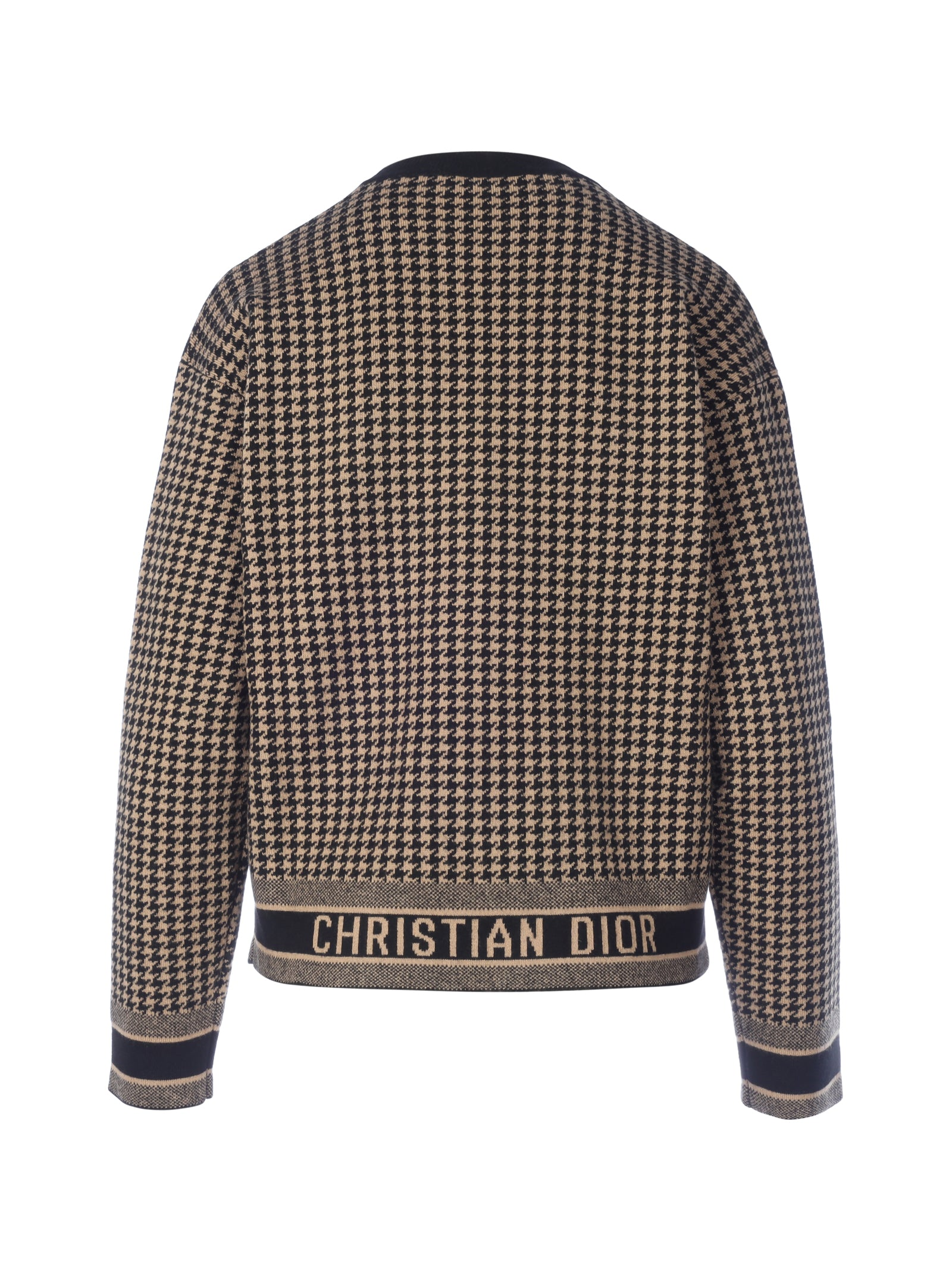 HOUNDSTOOTH FANTAISIE 30 MONTAIGNE JACQUARD KNIT SWEATER