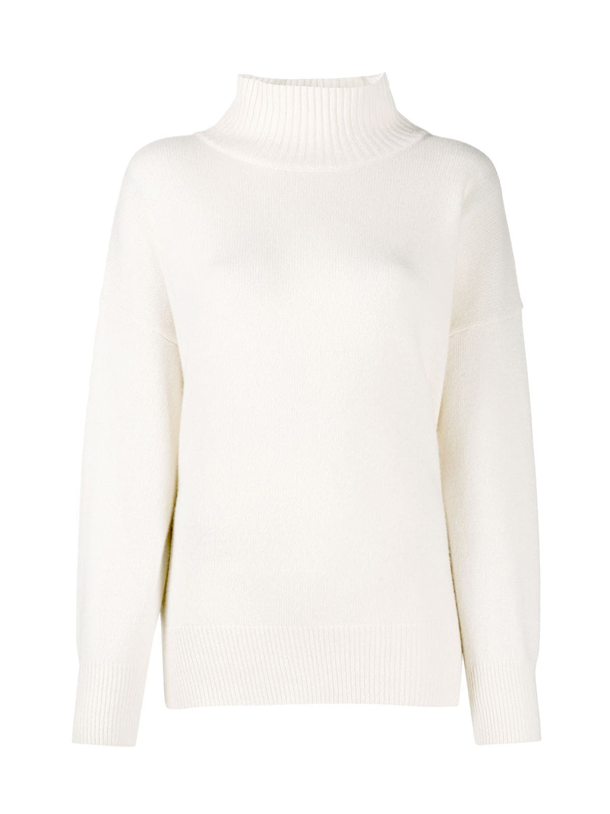 split-hem roll-neck sweater