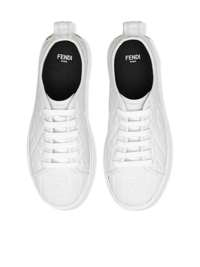 logo embossed sneakers