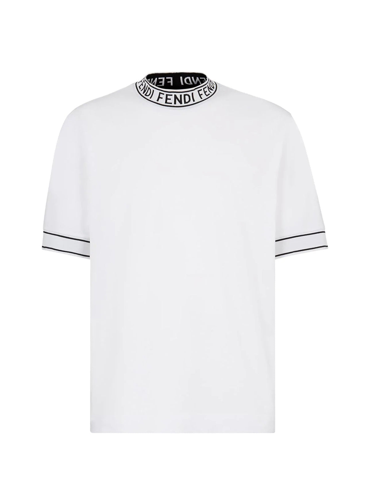 mock collar T-shirt