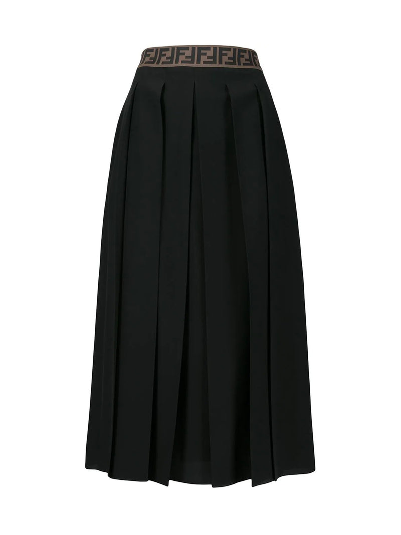 FF motif detail pleated skirt