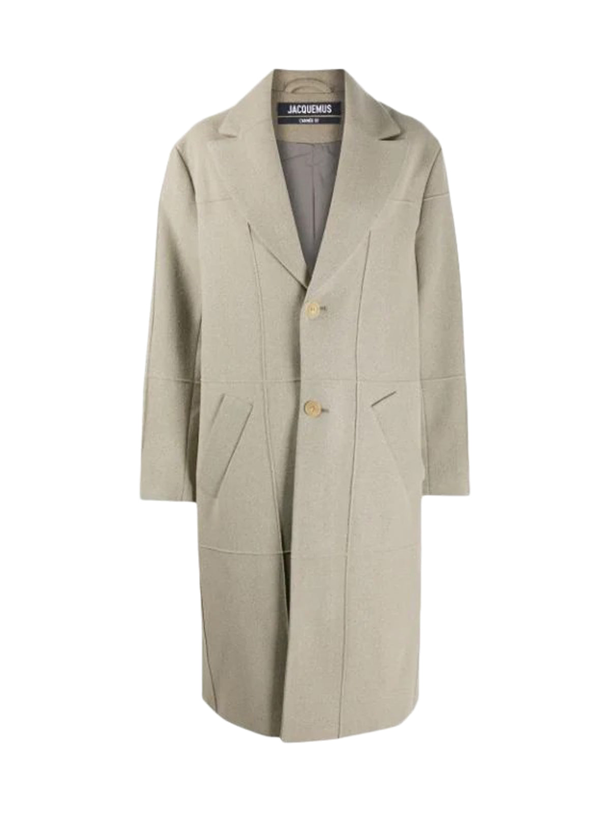 Long wool straight coat