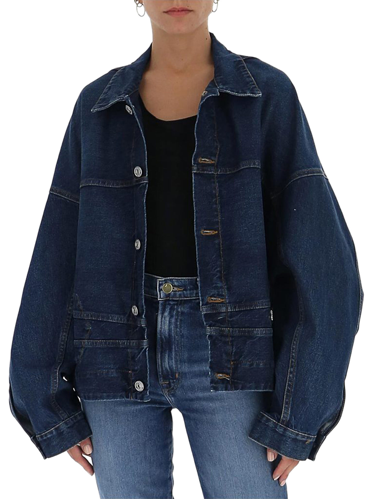denim jacket in inverted denim