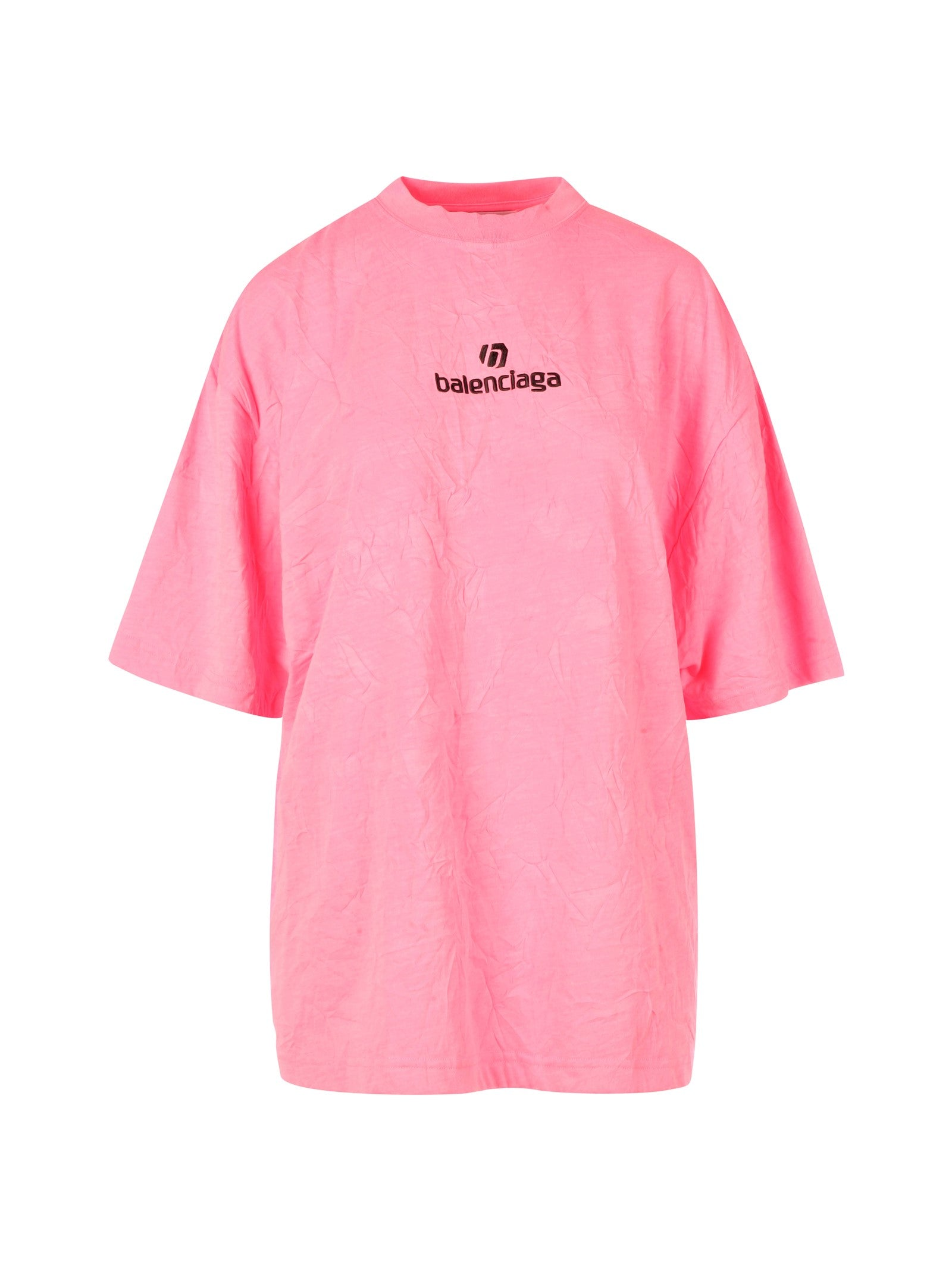 embroidered logo oversized T-shirt