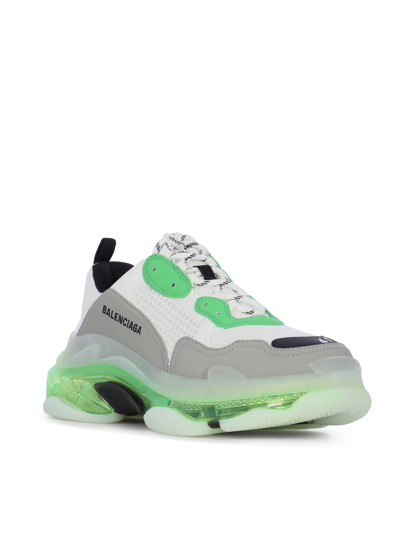 Oversized sneakers in mix of materials with air bubble in the sole