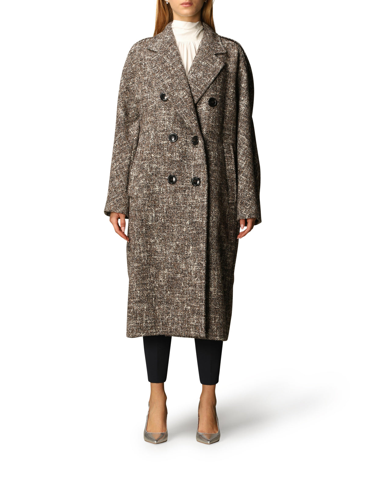 "Double-breasted Teatine ""atelier"" coat"