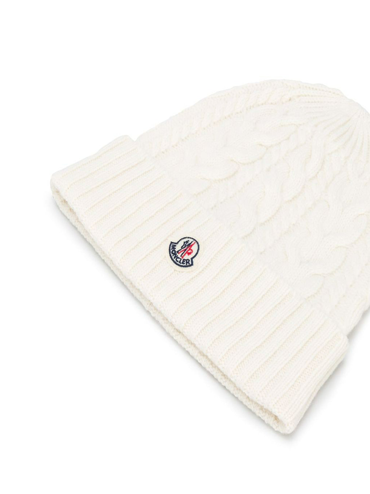 knitted logo patch beanie