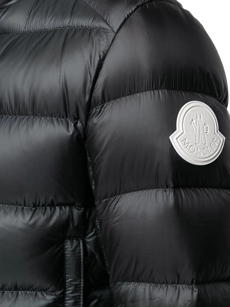 logo patch quilted jacket