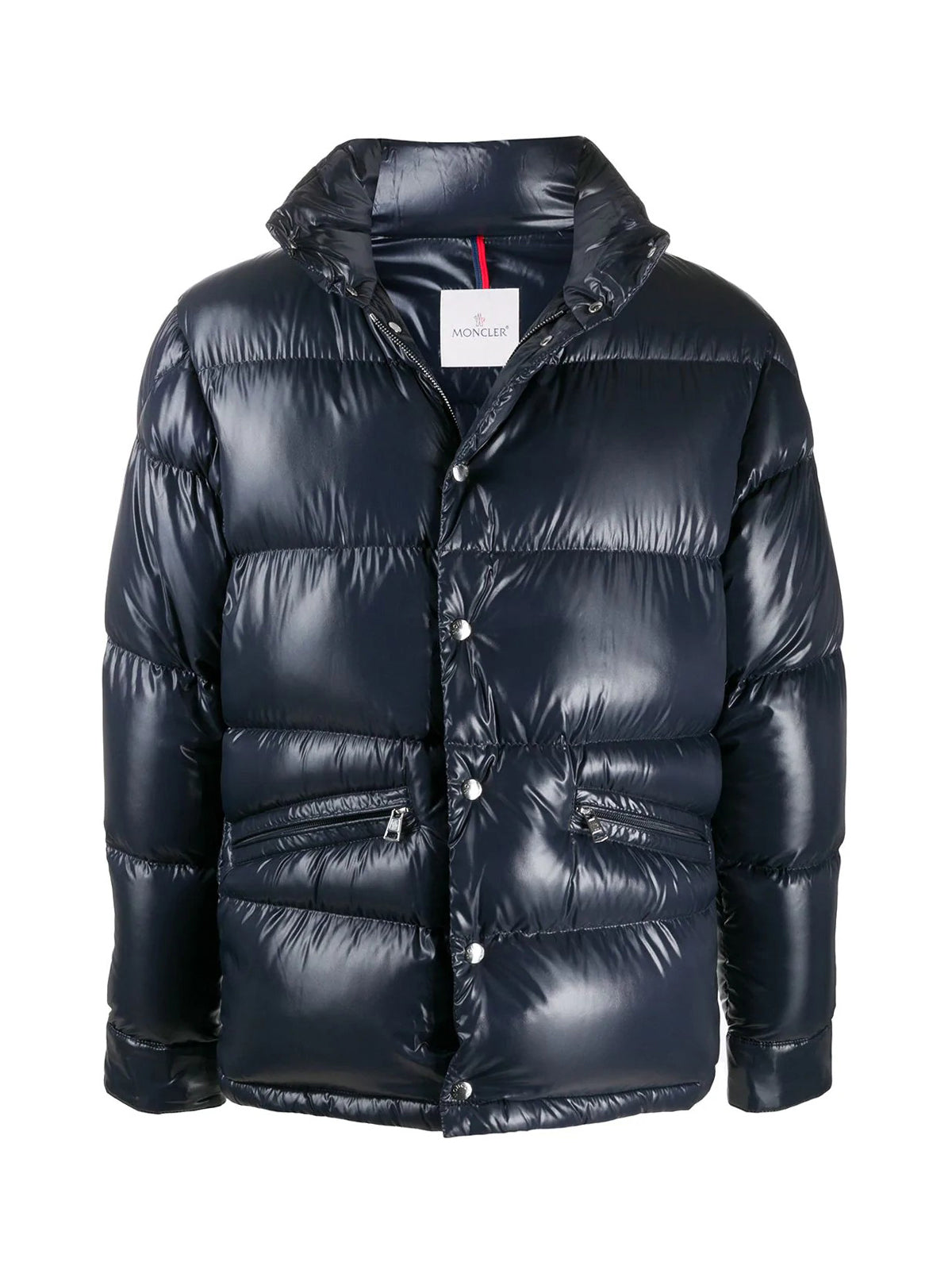 ZIPPED PUFFER JACKET WITH STAND-UP COLLAR