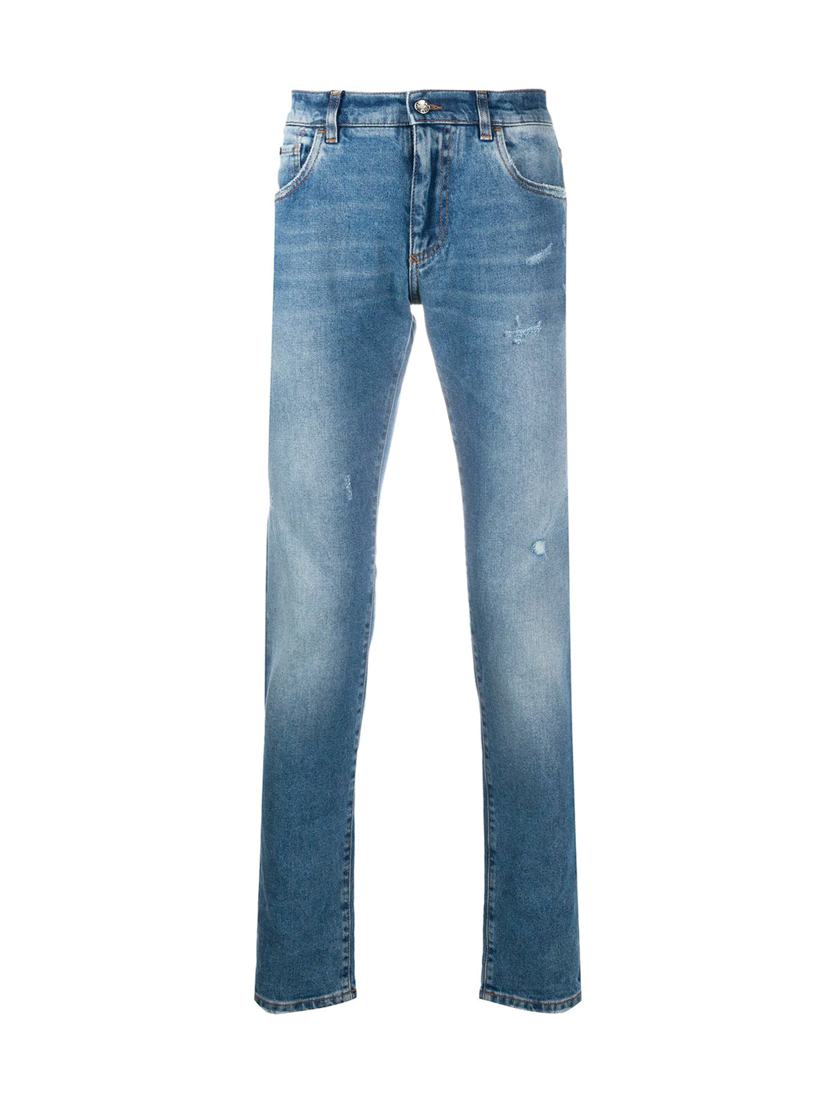 Slim jeans with washed effect