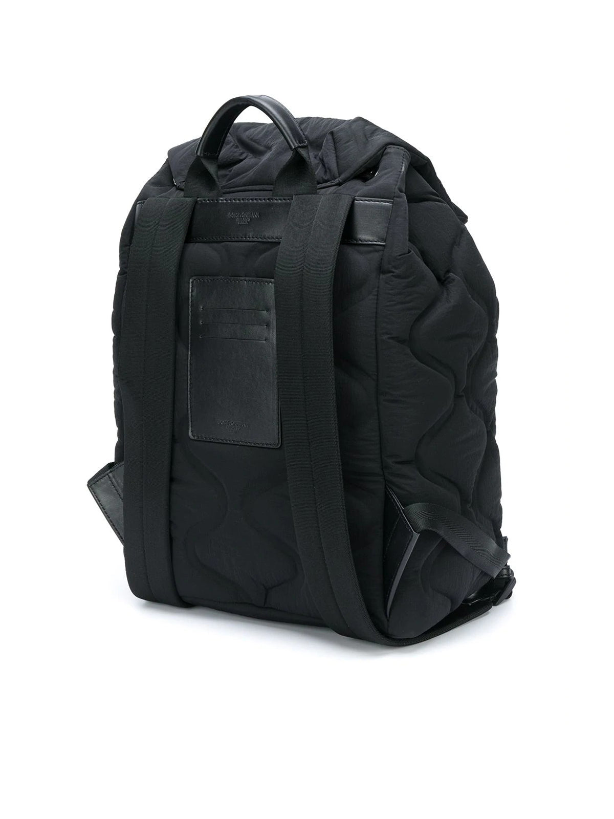 wave-quilted backpack