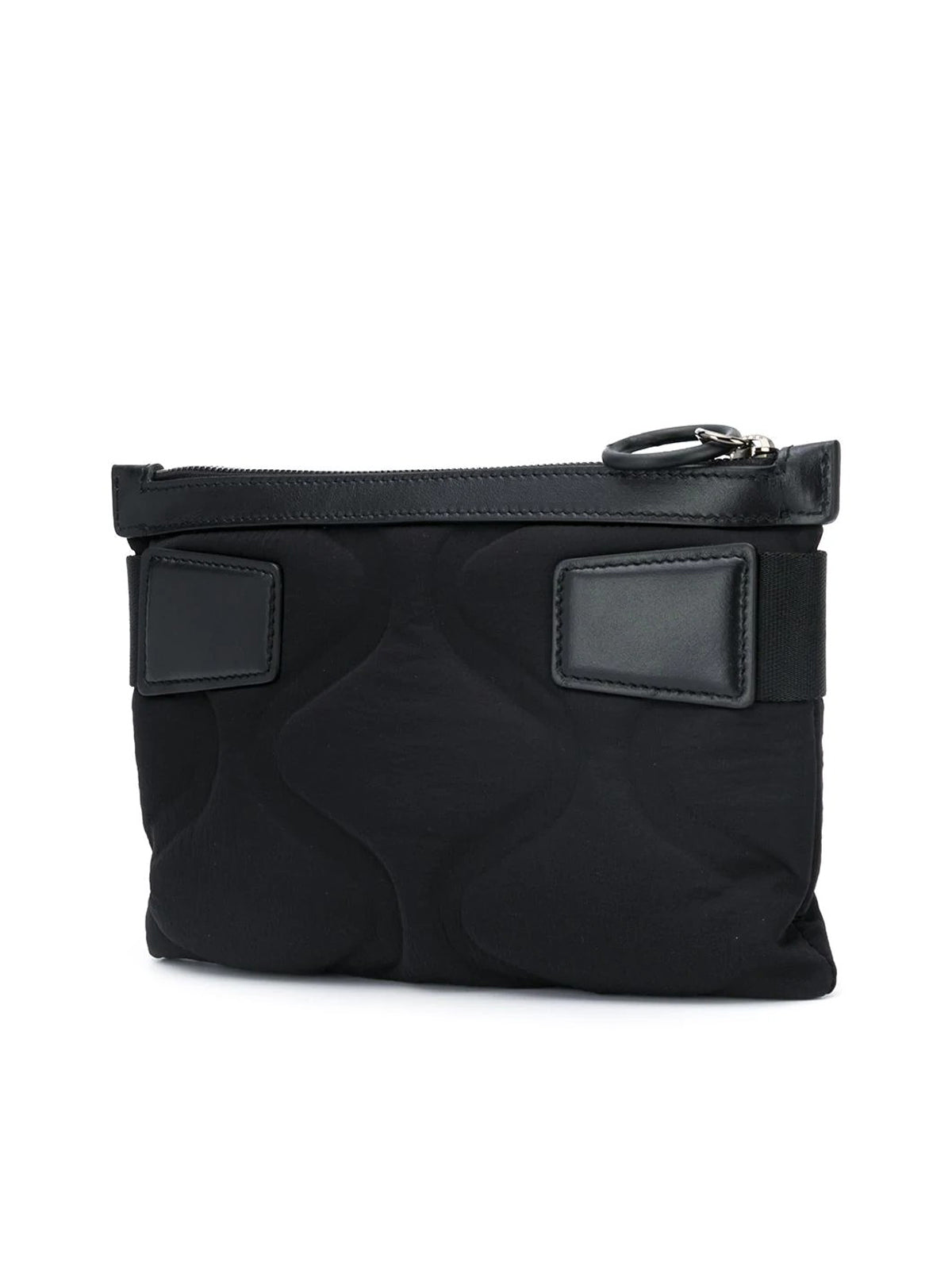 Padded zip-up shoulder bag