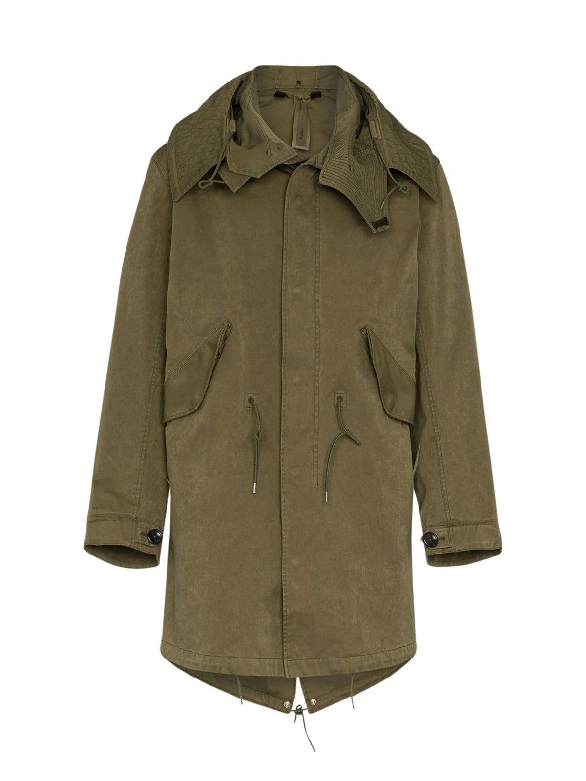 Mid-Length Cotton Parka Jacket