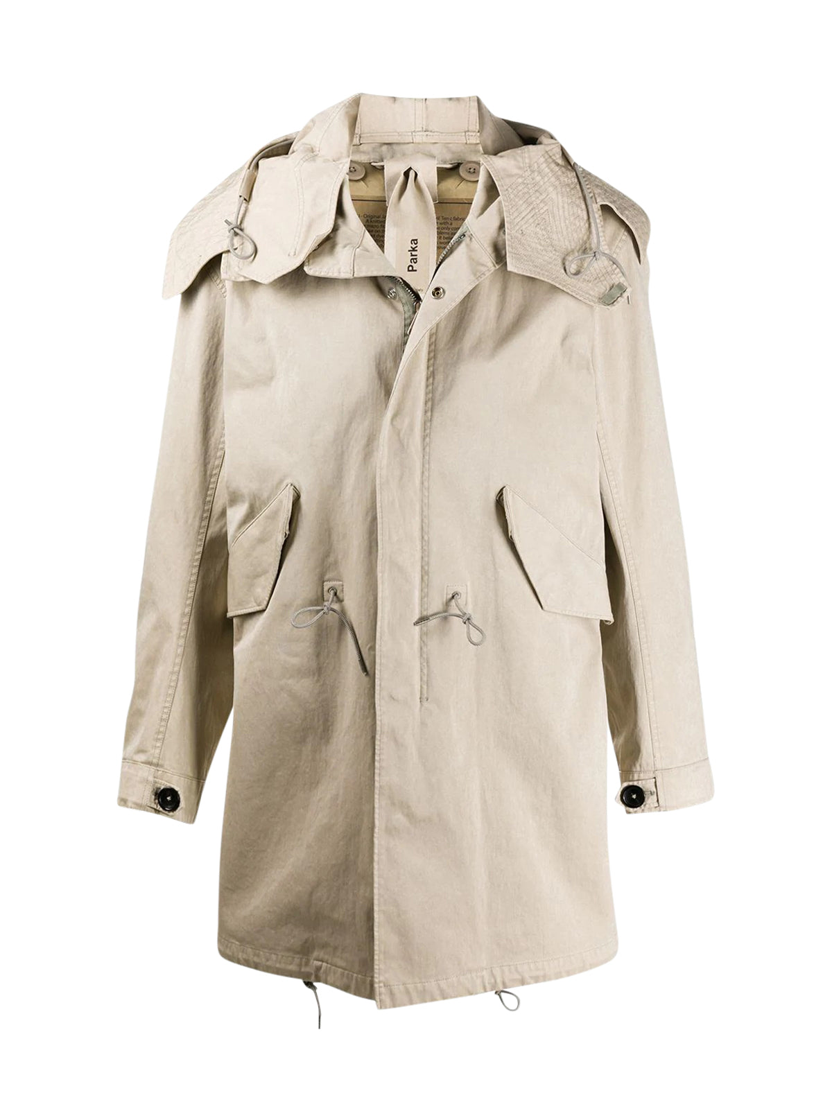 long-sleeve parka coat