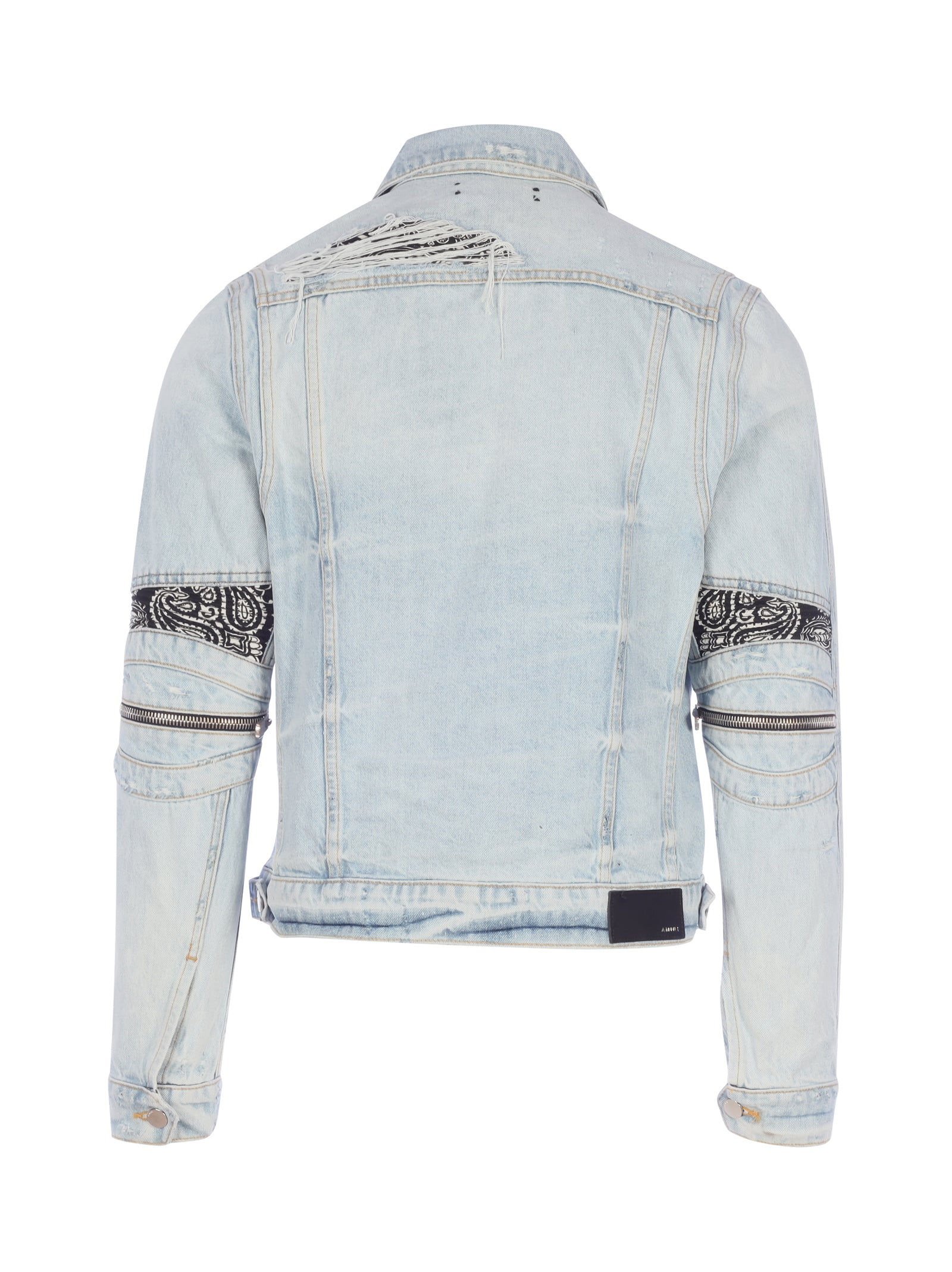 bandana denim jacket