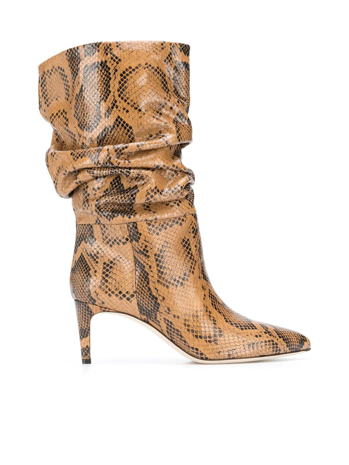 snakeskin-effect slouchy boots