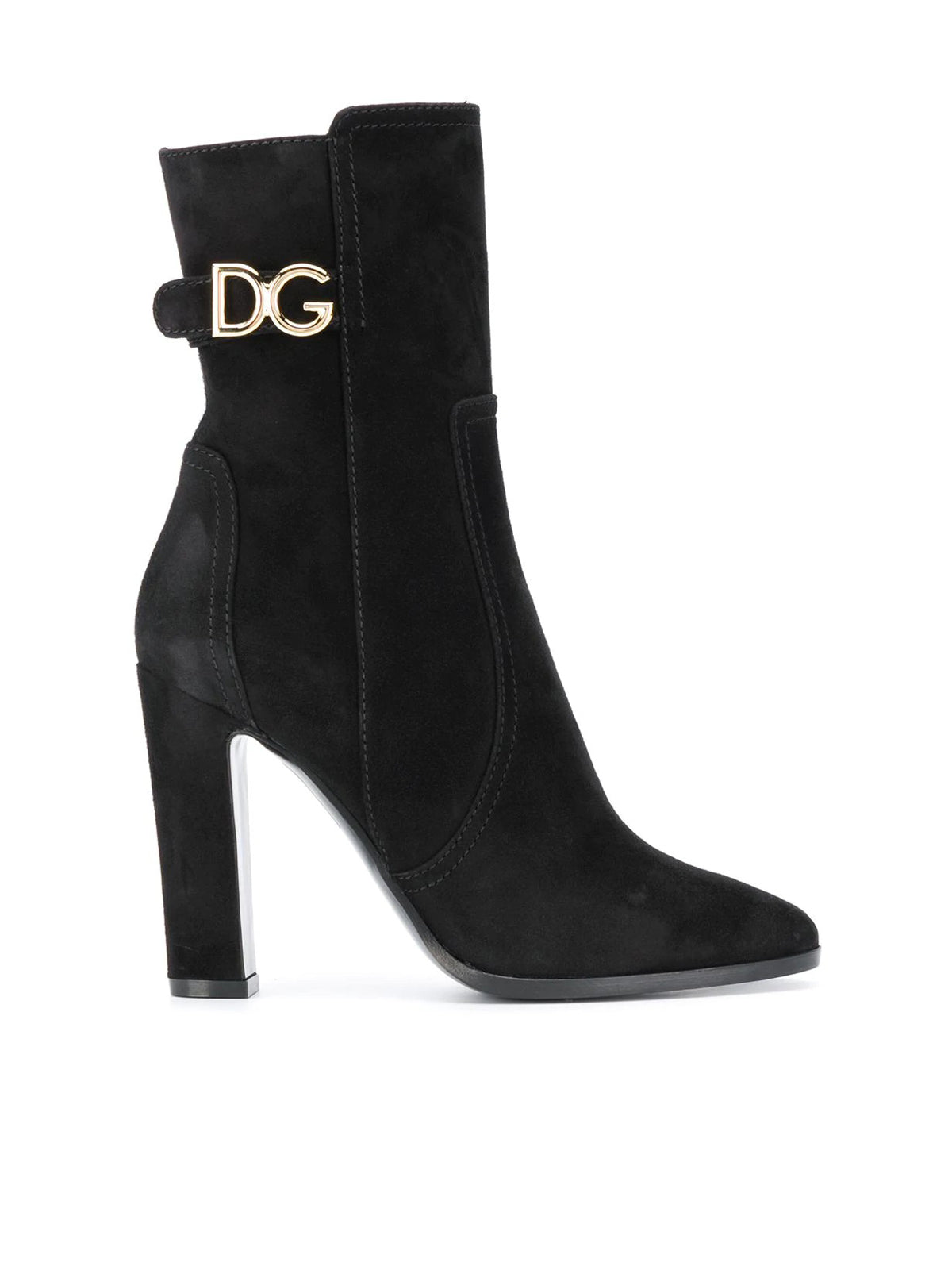 DG-logo leather boots
