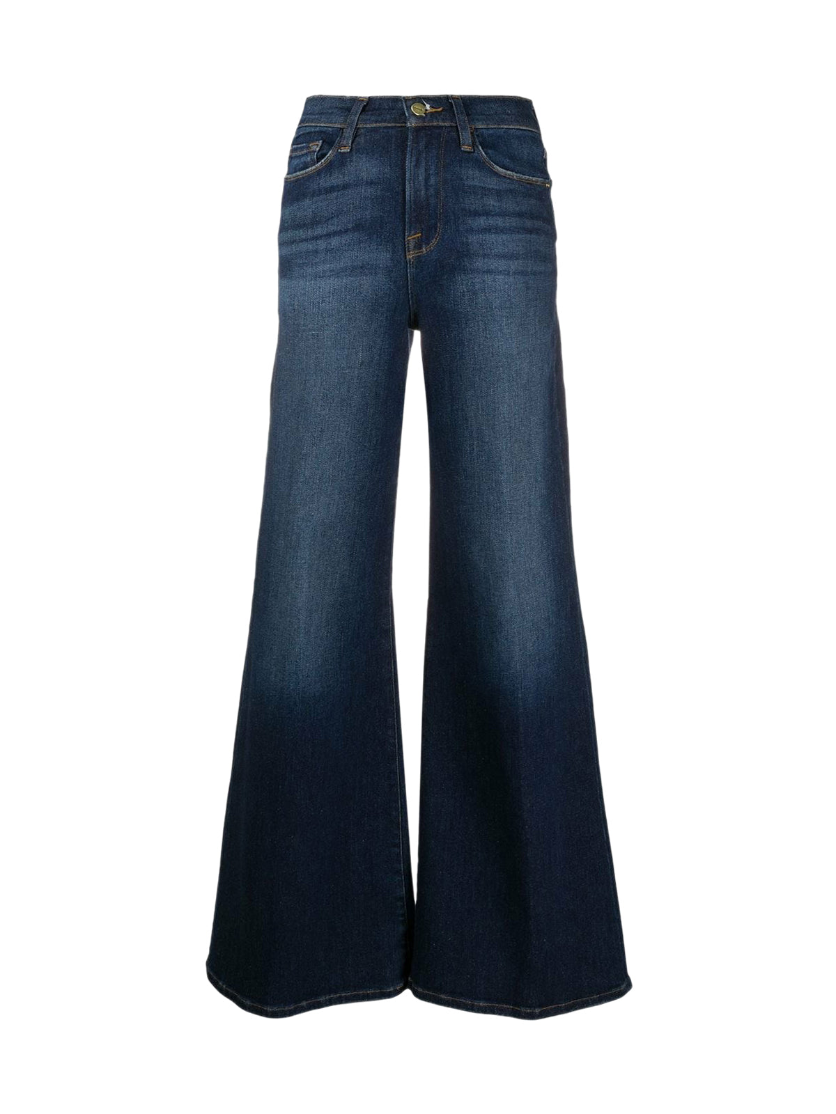 Flared jeans with washed effect