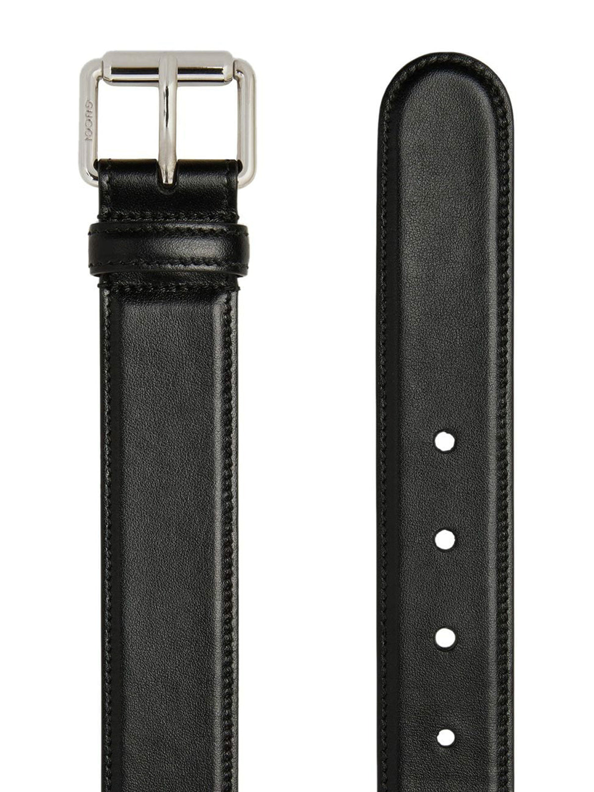 Interlocking Logo Buckle Leather Belt