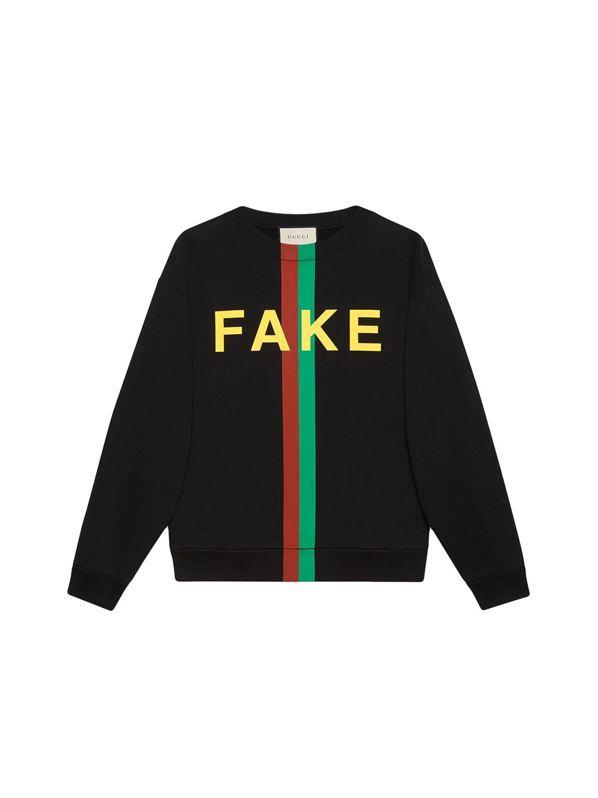 Fake/Not print organic-cotton sweatshirt