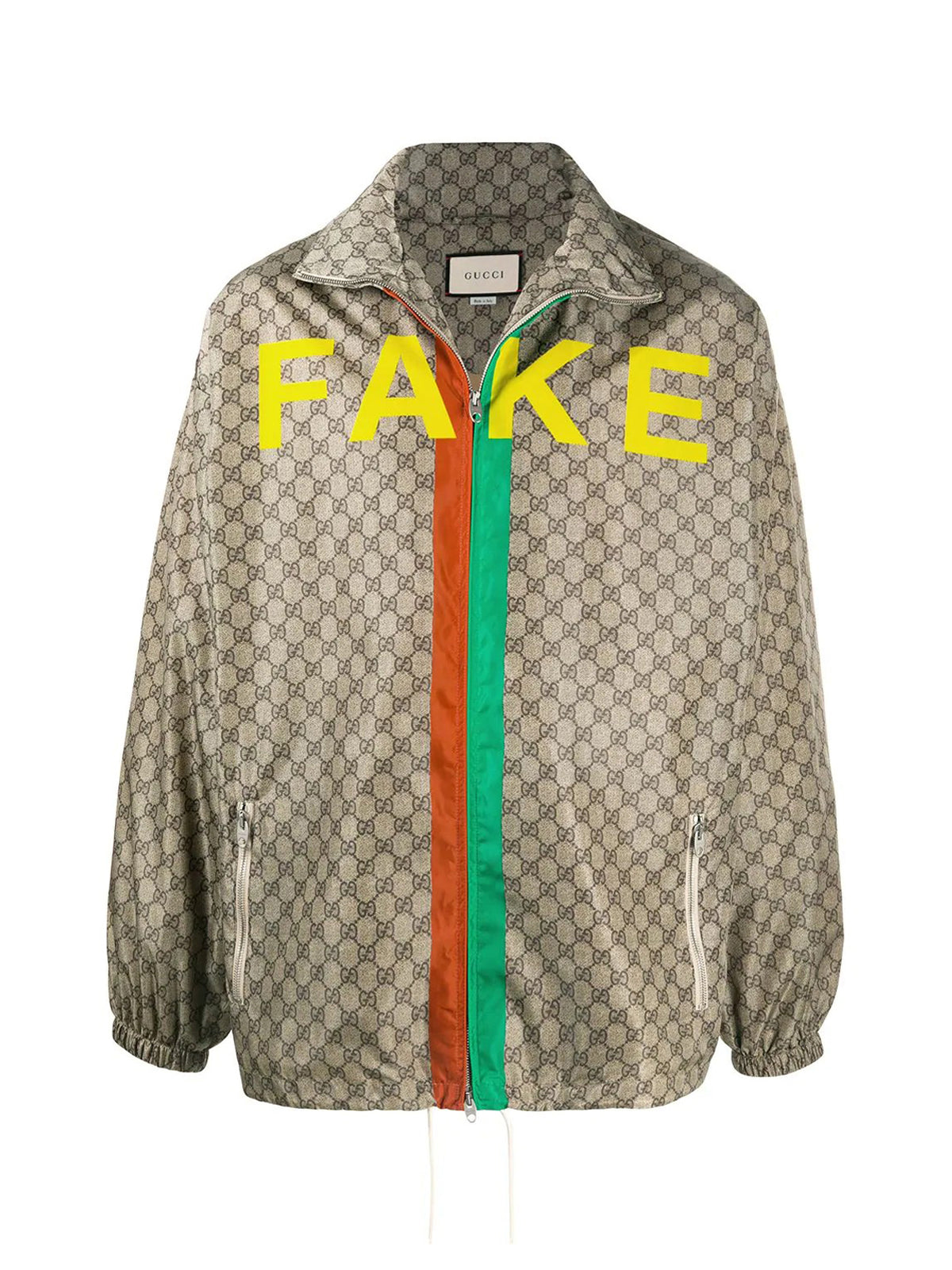 `Not Fake` GG Supreme canvas jacket