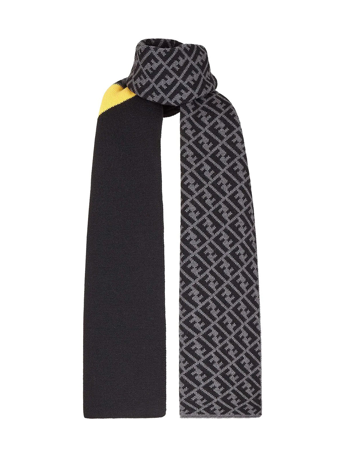 panelled FF print scarf