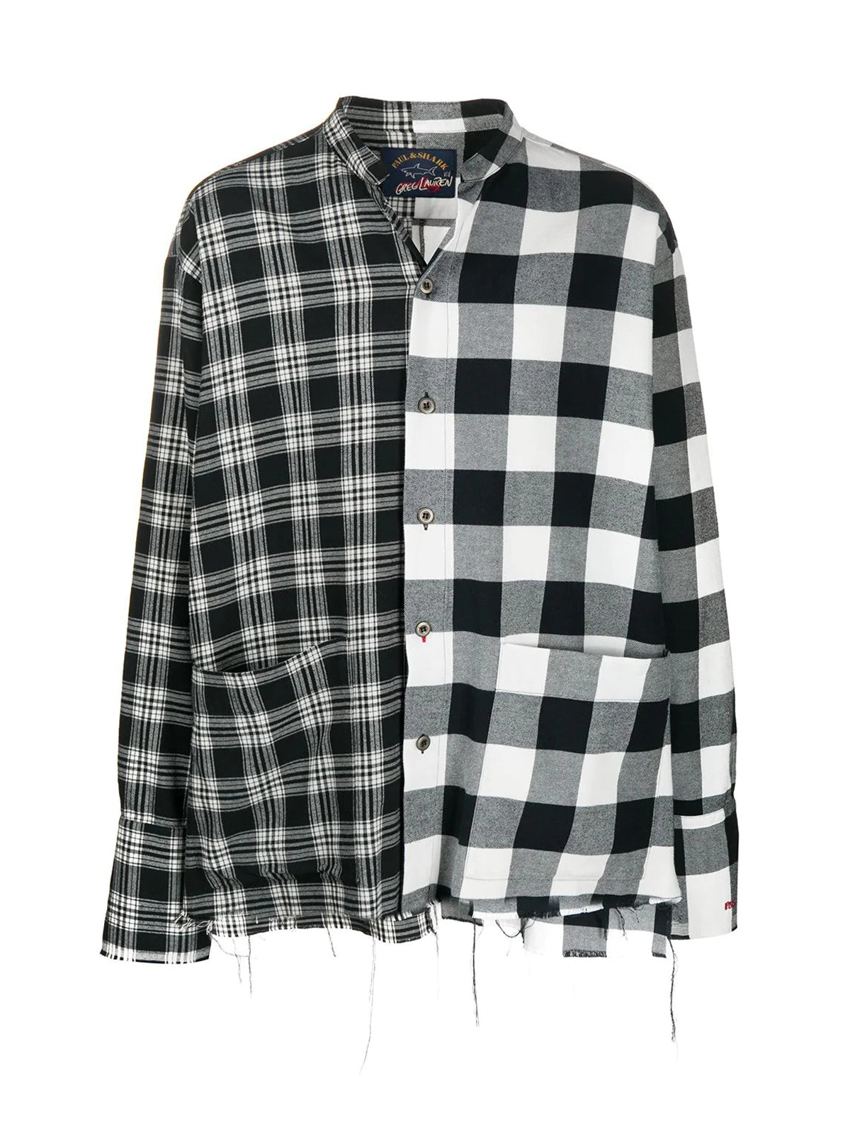 Oversize checked shirt