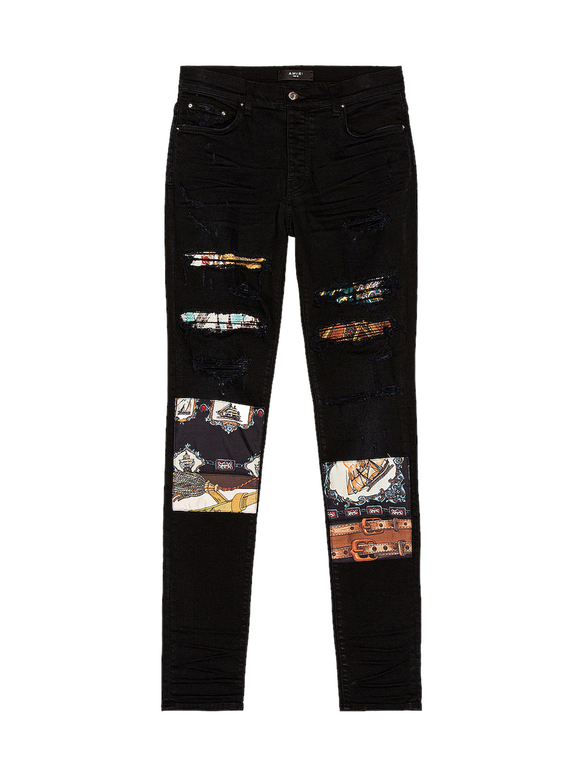 SCARVES ART PATCH JEANS