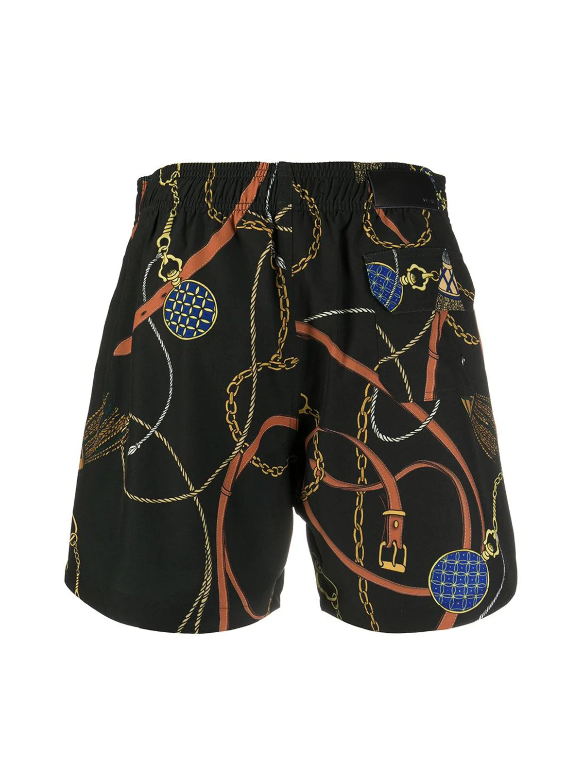 chain print swim shorts