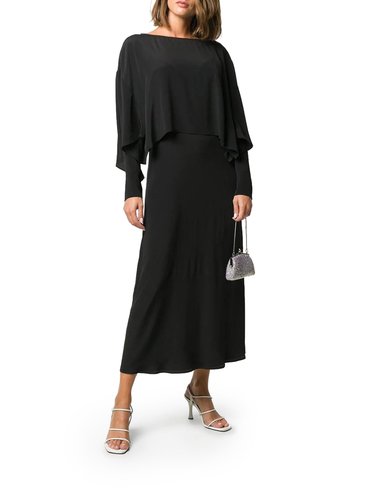 layered-look maxi dress