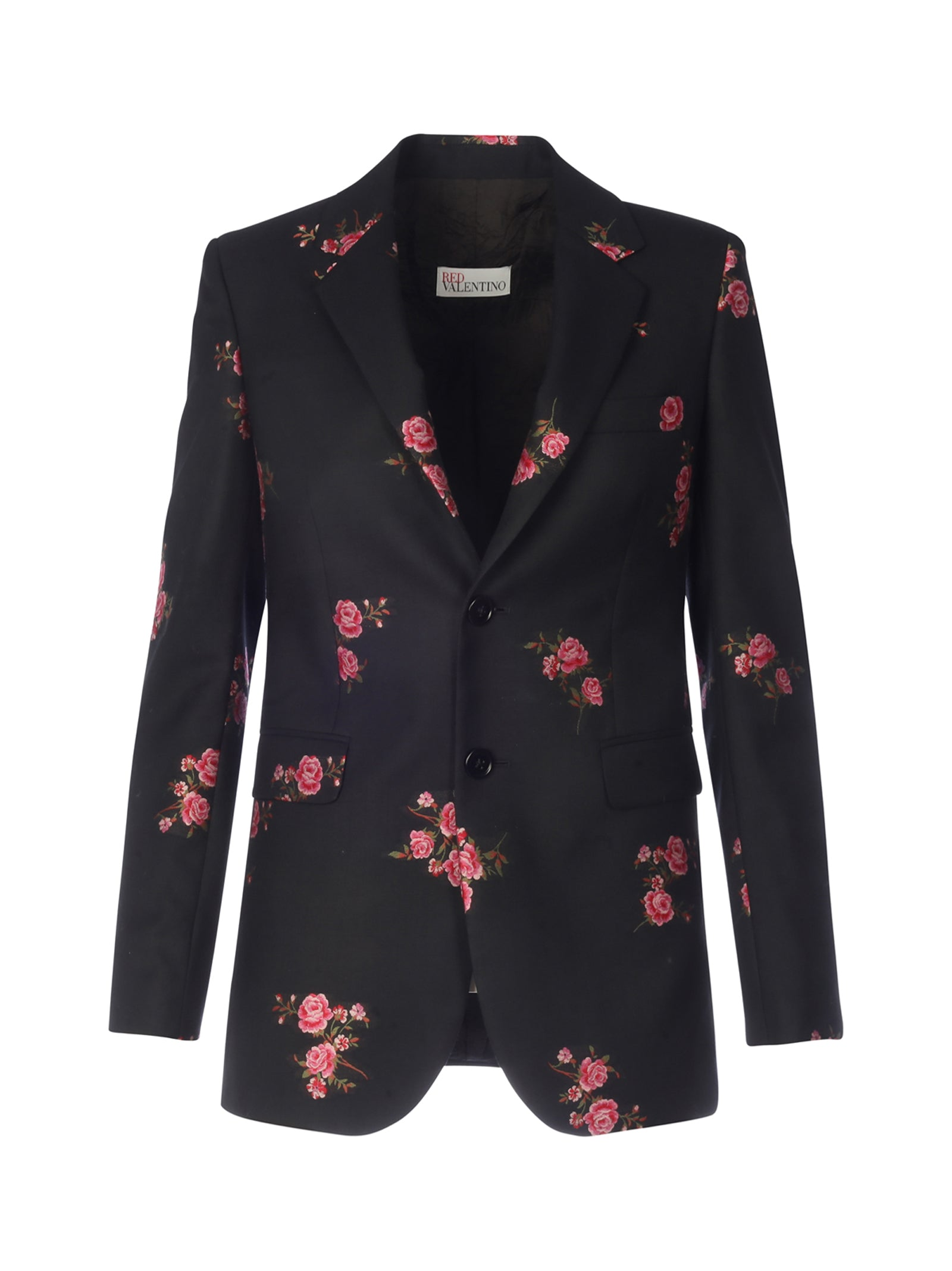 floral print single-breasted blazer