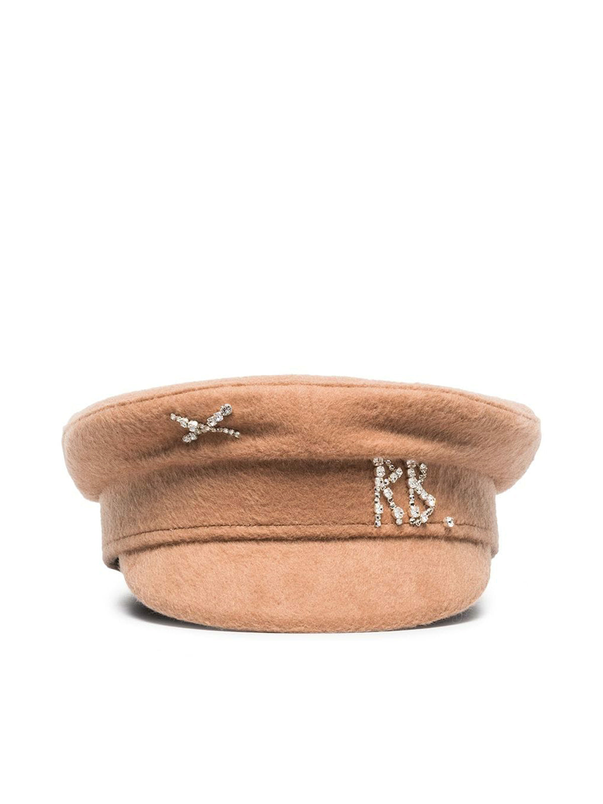 logo-embellished baker boy hat