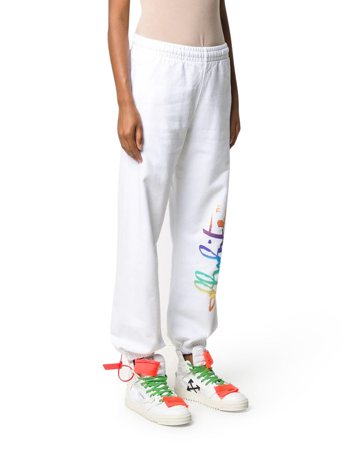 Rainbow logo track pants