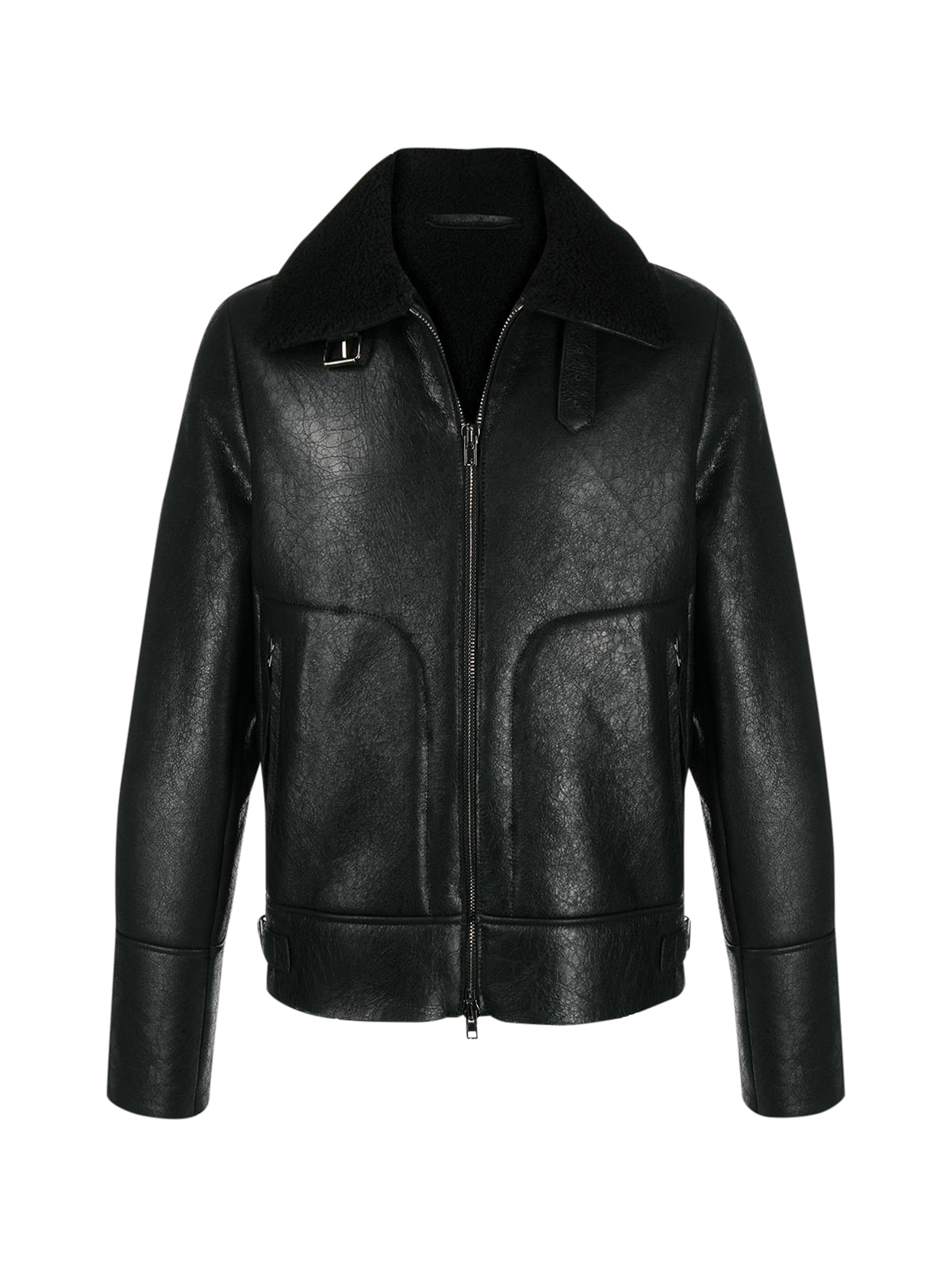 neck-strap aviator jacket
