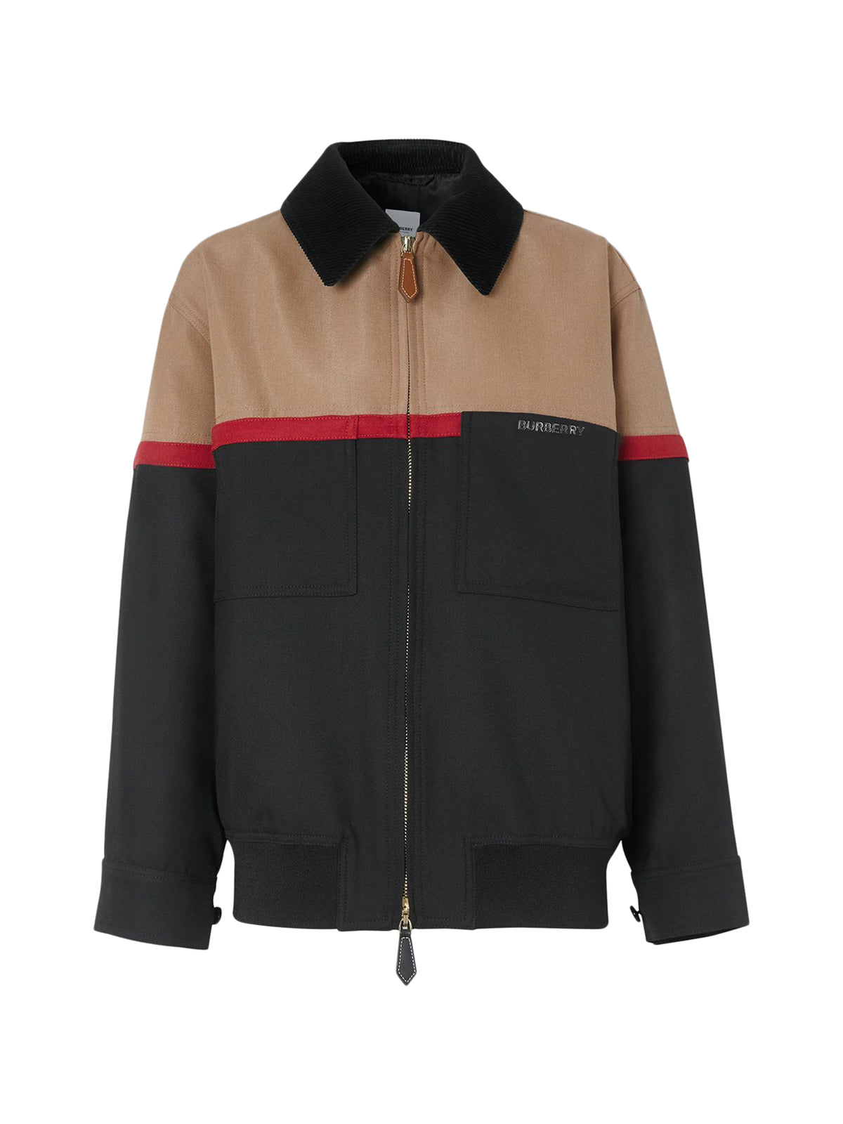 colour block Harrington jacket