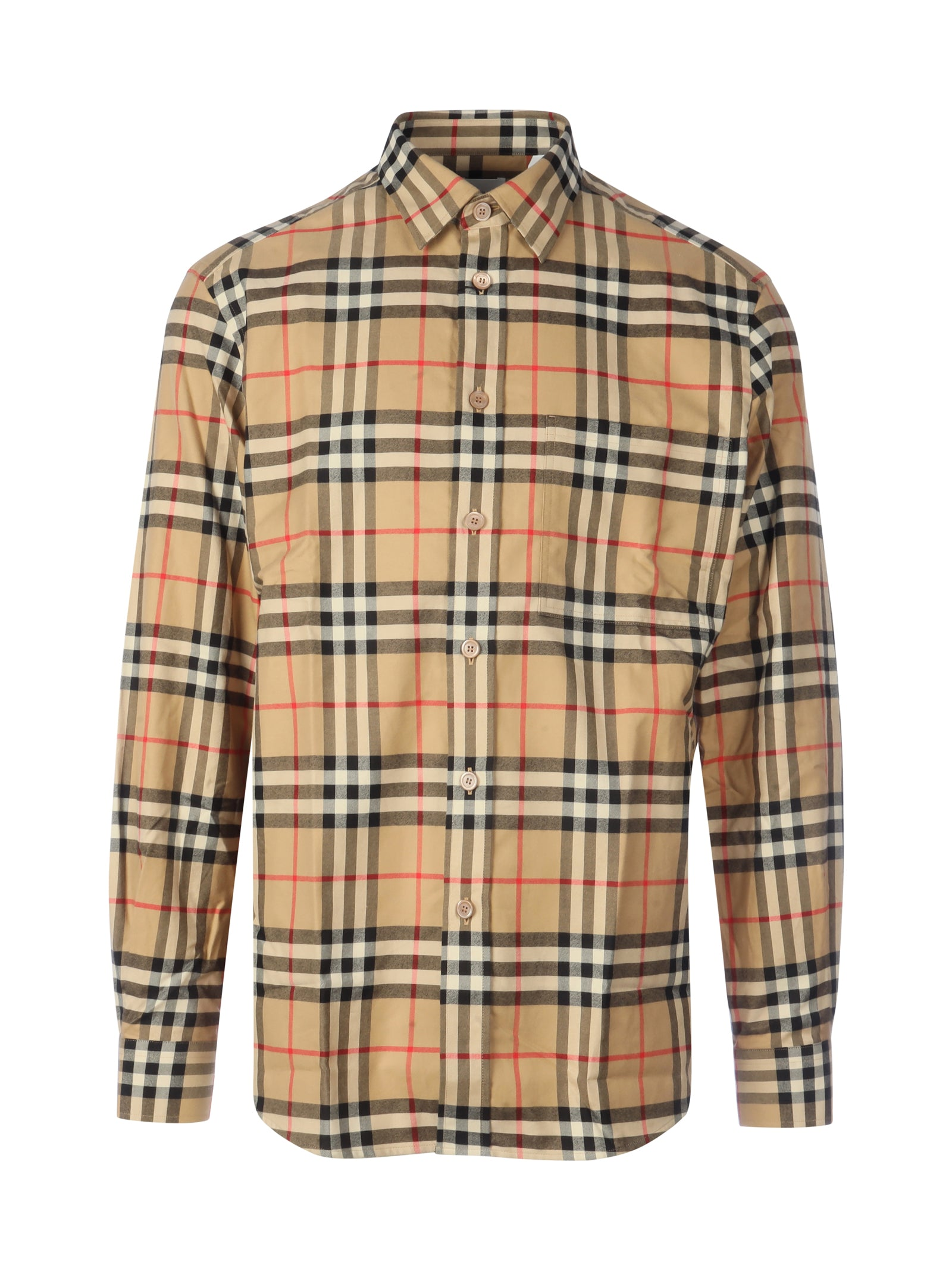 Shirt with vintage check pattern